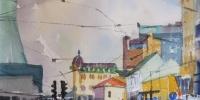 Akvarell av Kristian Talvik